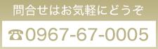 電話番号:0967-67-0005